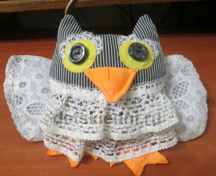 Пошив мягкой игрушки Совушка. Готовая игрушка совы.