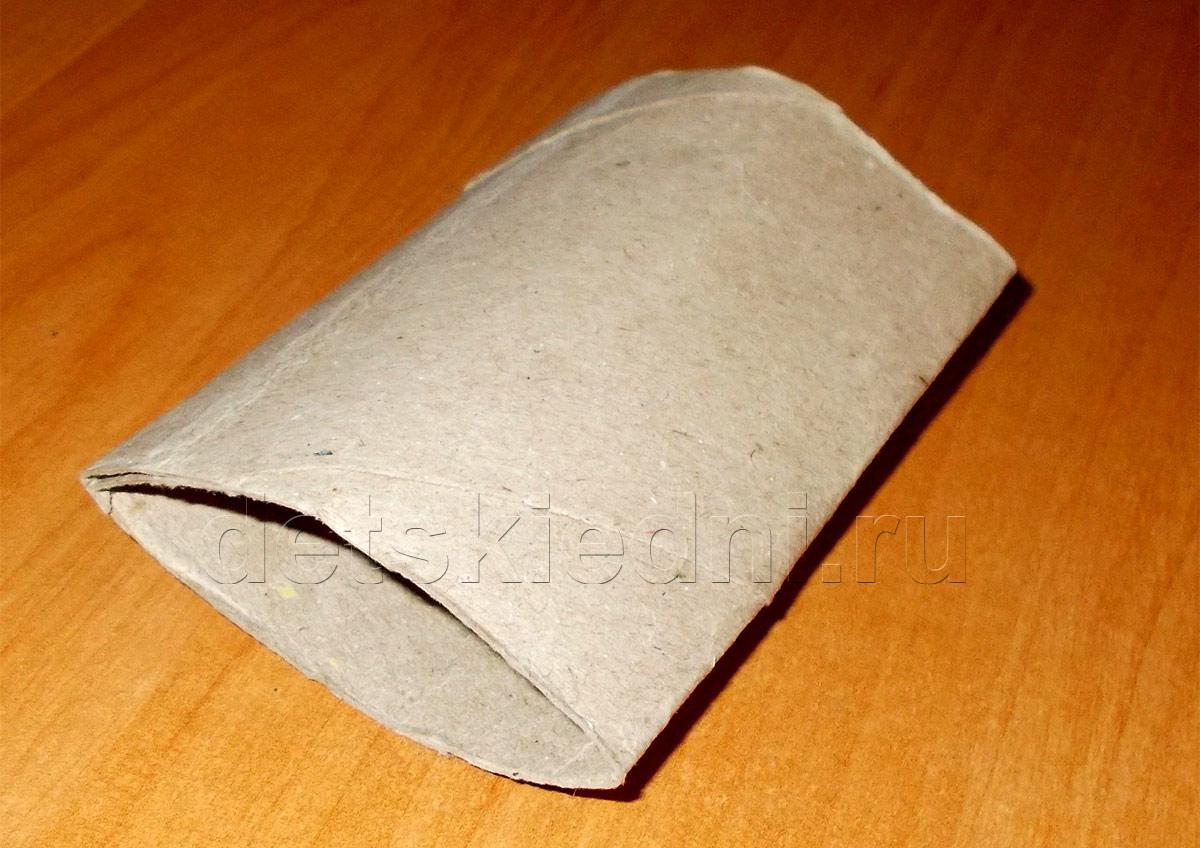 Снежинка из бумажного цилиндра. Шаг 2