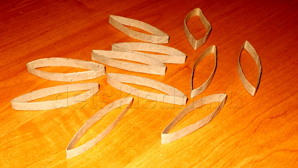 Снежинка из бумажного цилиндра. Шаг 3